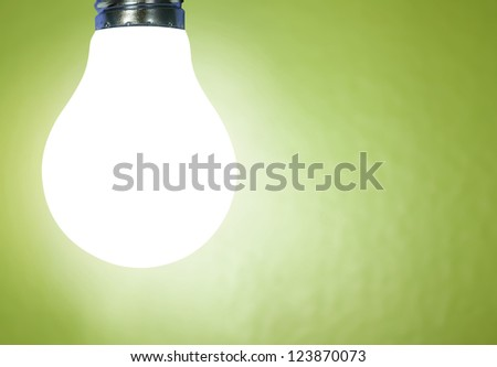 ideas, energy saving light bulb - stock photo
