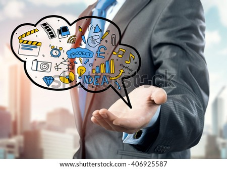 Ideas for success in business - stock photo