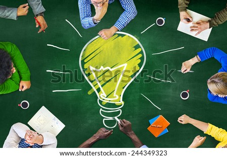 Ideas Thoughts Knowledge Intelligence Learning Thoughts Meeting Concept - stock photo
