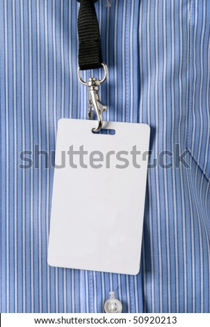 Identity card - stock photo