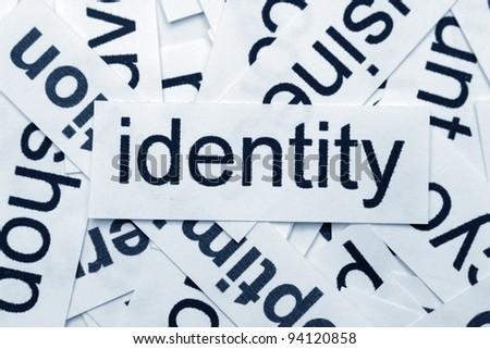 Identity concept - stock photo