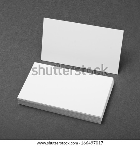 identity design, corporate templates, company style, blank business cards on grey background - stock photo