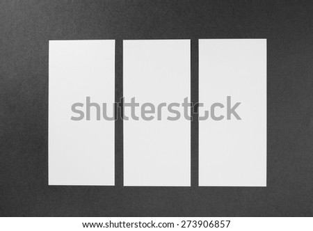 identity design, corporate templates, company style, set of booklets, blank white paper flyer - stock photo