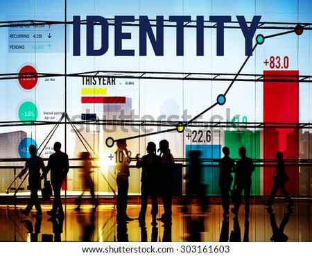 Identity Name Individuality Trademark Brand Concept - stock photo
