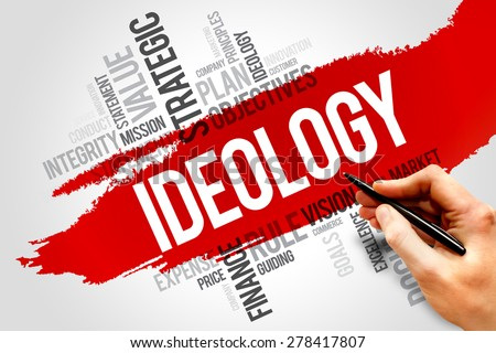 Ideology word cloud, business concept - stock photo