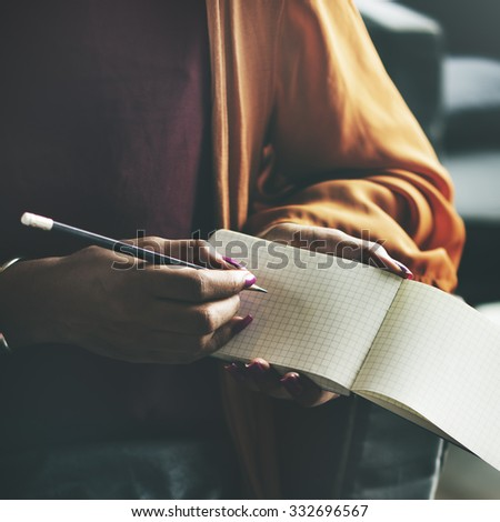 Ides Writing Thinking Diary Connection Concept - stock photo
