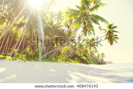 Idyllic beach - stock photo
