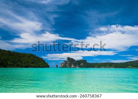 Idyllic Island High Cliff  - stock photo