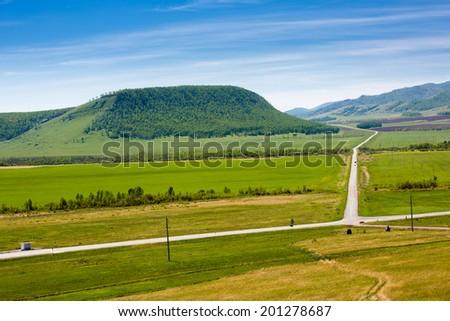 Idyllic landscape - stock photo