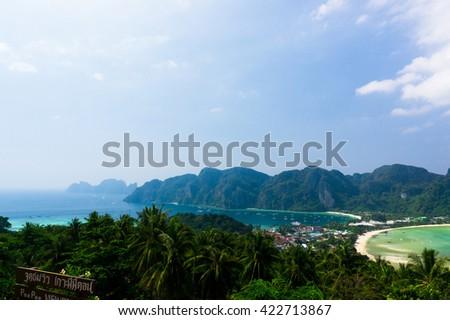 Idyllic Panorama Heaven Seascape  - stock photo