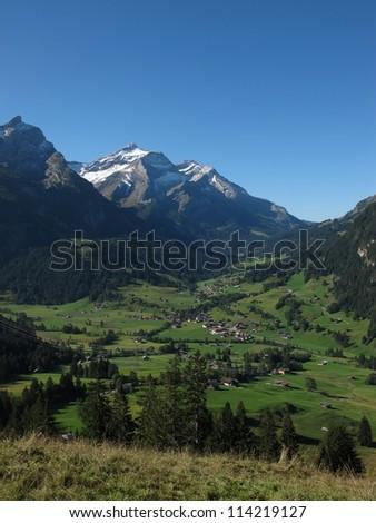 Idyllic Village Gsteig Bei Gstaad - stock photo