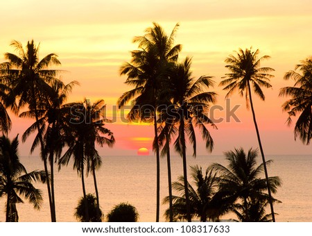 Idyllic Wallpaper Bay View - stock photo