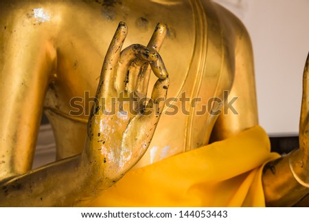 If you have a Buddha with the Kara-na mudra, be very mindful about its placement - stock photo