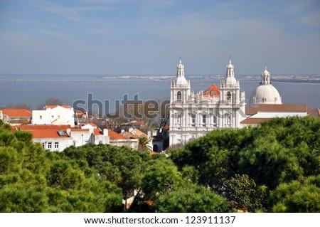 Igreja de Sao Vicente Lisbon - stock photo