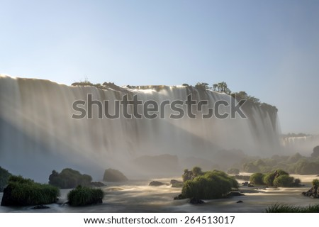 Iguacu Falls, Brazil - National Park - stock photo