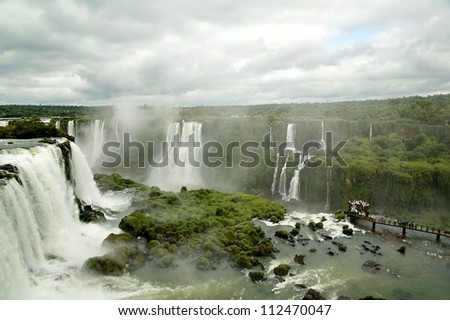 Iguasu Falls (Cataratas) - stock photo