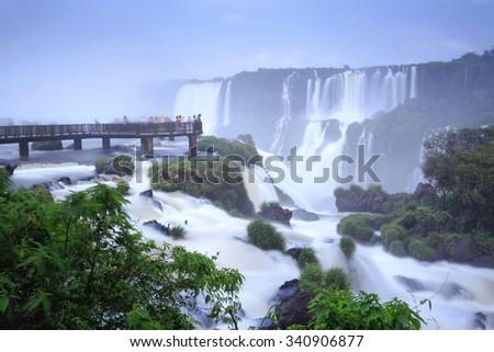 Iguazu Falls, Brazil, Argentina - stock photo
