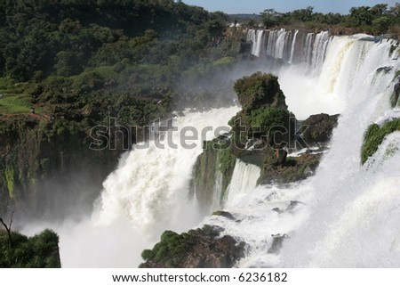 Iguazu falls captured from the Argentinian side - stock photo