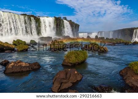 Iguazu waterfalls - stock photo