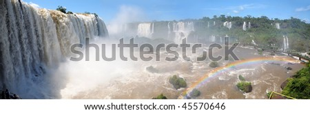 Iguazu waterfalls, Brasil - stock photo