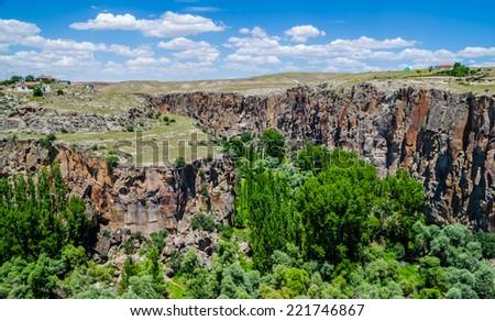Ihlara Valley , Aksaray province , Turkey - stock photo