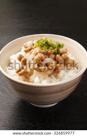 ika natto - stock photo
