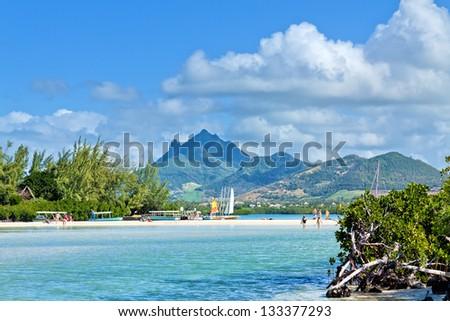 Ile aux Cerfs, Mauritius, Africa - stock photo