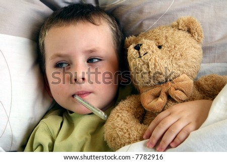 ill child - stock photo
