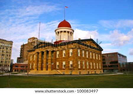 Illinois Old State Capitol - stock photo