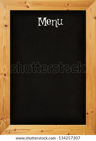 Illustrated blackboard restaurant menu - stock photo