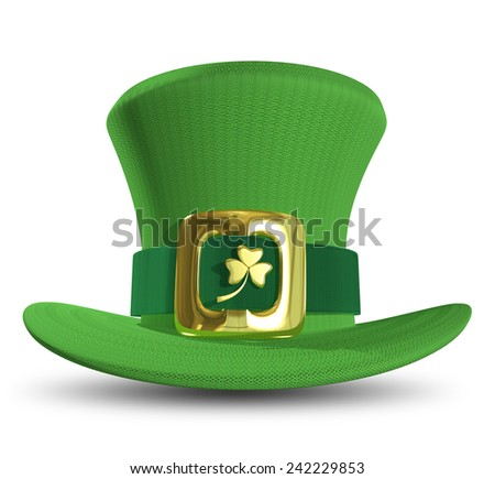 Illustration a green St. Patrick's Day hat - stock photo