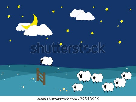 illustration about sleeping and insomnia issues - stock photo