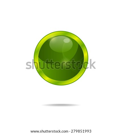 Illustration abstract eco green bubble isolated - raster - stock photo