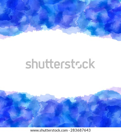 Illustration abstract hand-drawn watercolor background, copy space for your text - raster  - stock photo