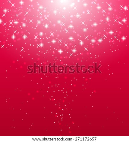 Illustration abstract pink  illuminated background with shiny stars - raster  - stock photo