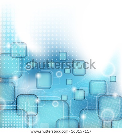 Illustration abstract wavy purple background for design - raster - stock photo