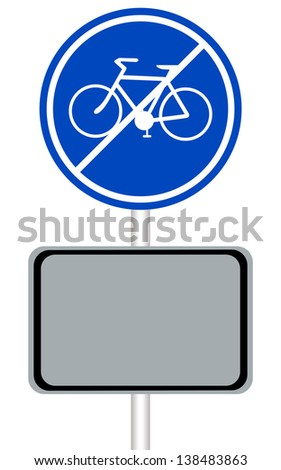 illustration bicycle sign. - stock photo