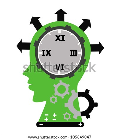 Illustration - Brain system,The system of human in the time. - stock photo