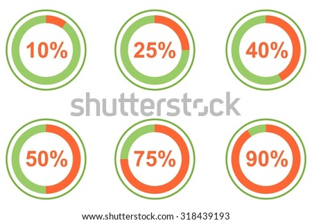 illustration dedicated to the infographics and percentage.  - stock photo
