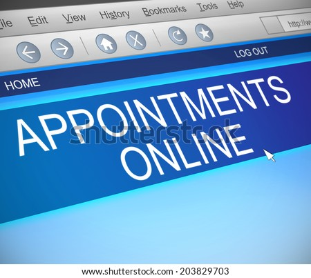 Illustration depicting a computer screen capture with an appointment concept. - stock photo