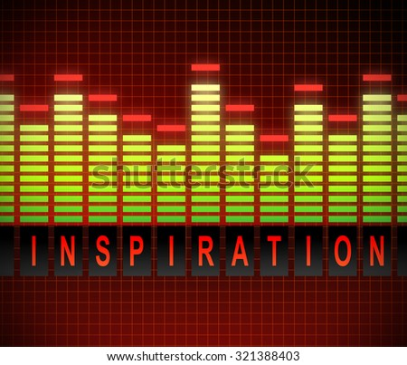 Illustration depicting a graphic equalizer with an inspiration concept. - stock photo