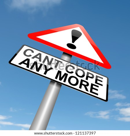 Illustration depicting a roadsign with a cant cope concept. Sky background. - stock photo