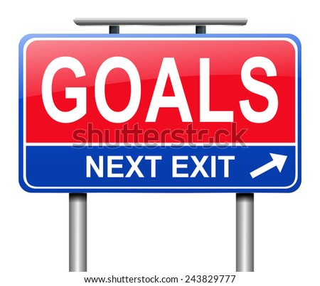 Illustration depicting a sign with a goal concept. - stock photo