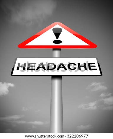 Illustration depicting a sign with a headache concept. - stock photo