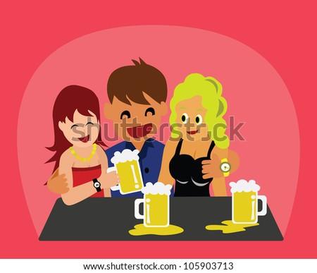 Illustration - Drinking. - stock photo