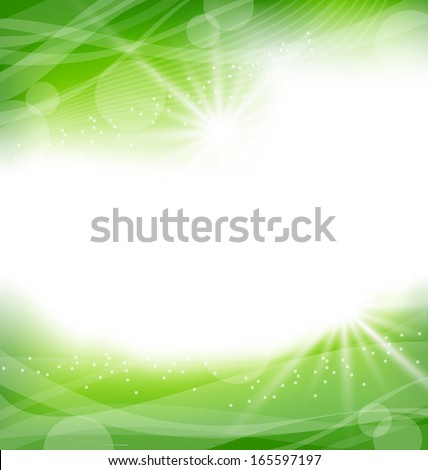 Illustration eco friendly background - raster - stock photo