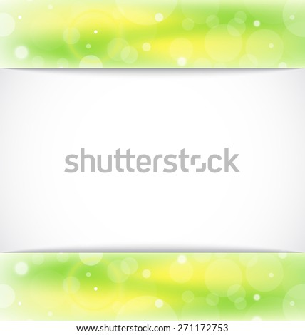 Illustration eco light background with copy space - raster - stock photo