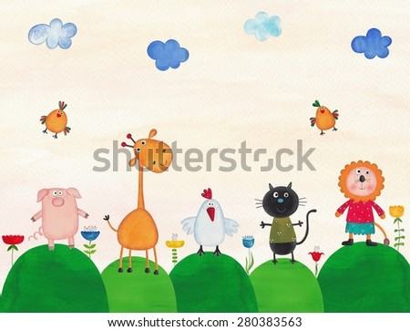 Illustration for children - stock photo