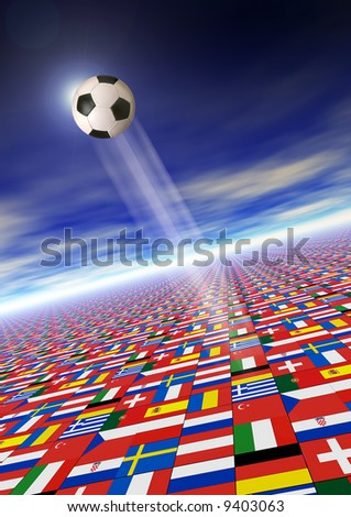 illustration for Euro 2008 championship of soccer in Austria and Switzerland - stock photo
