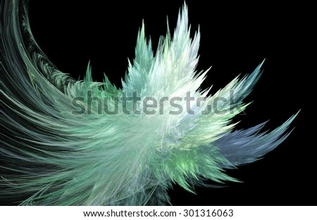 illustration fractal background with blue ice crystals - stock photo